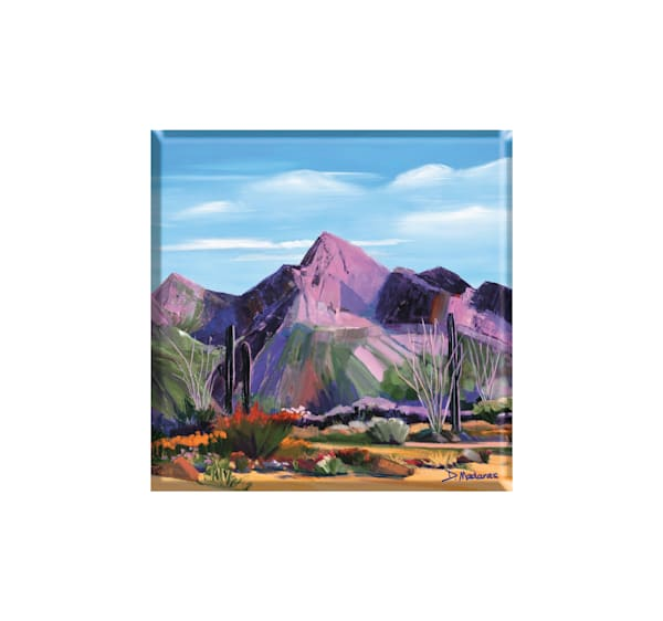 Pink Ocotillo at Pusch Ridge | Glass Trivet