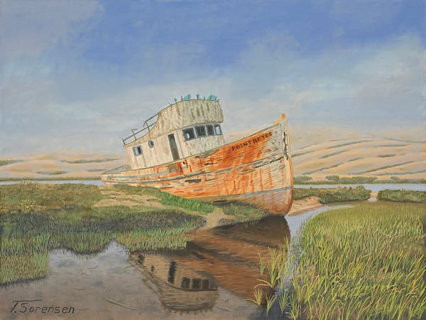 20x16 Wreck Of The Point Reyes On Paper Art | HFA print gallery