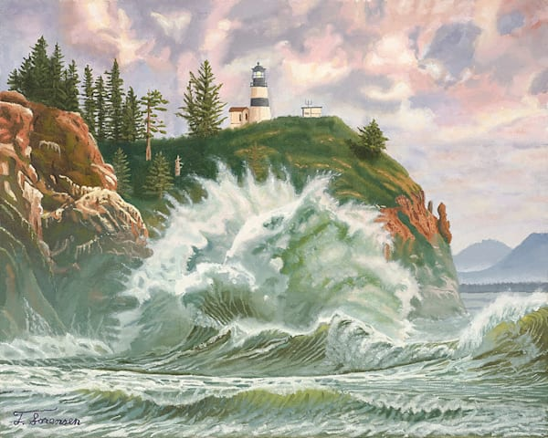 20x16  Cape Disappointment Lighthouse On Paper Art | HFA print gallery