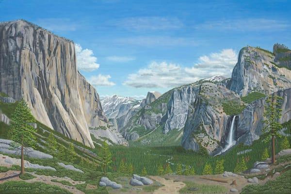 30x20 Yosemite Valley On Paper Art | HFA print gallery