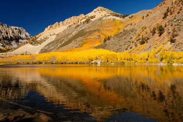 Mountain Lake, Fall Colors