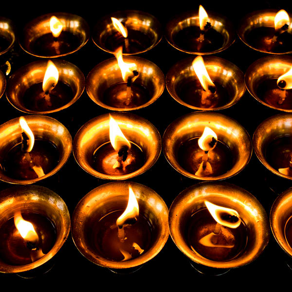 Butter Lamps | Buddism | Square Composition