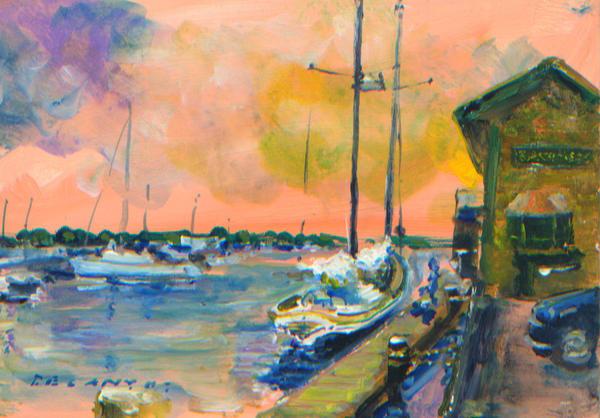 Bannister's Wharf Art Print