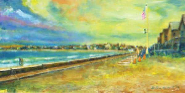 First Beach, Pixel Print