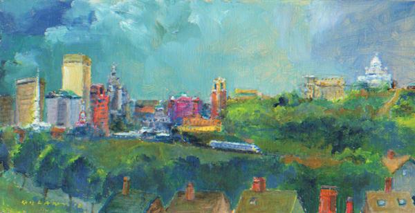 Providence Skyline #1 Art Print