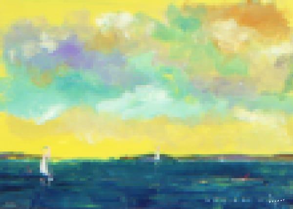 Sailor Off Newport Pixel Priint