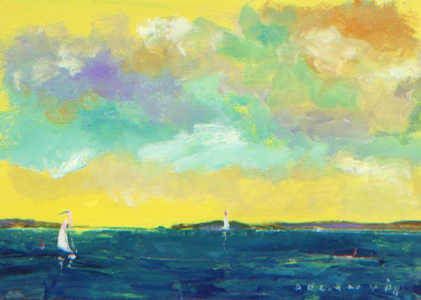 Sailor Off Newport Art Print