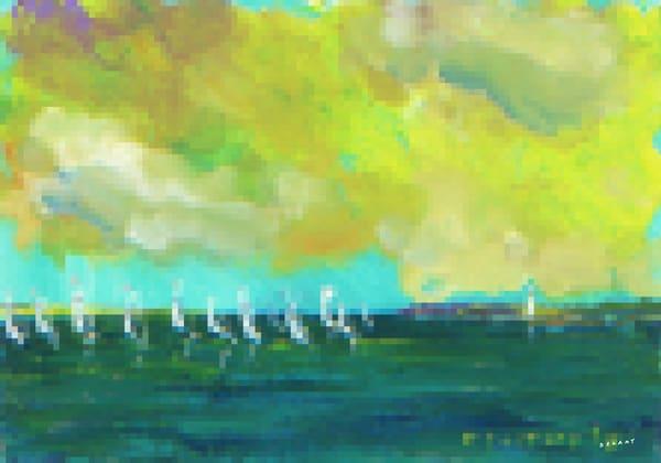 Summer Regatta #2 Pixel Print