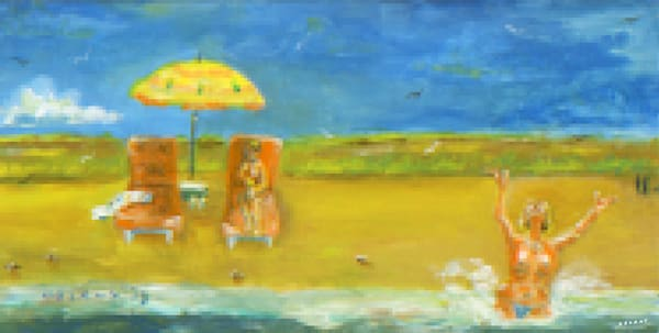 Westport Swim #1 Pixel Print