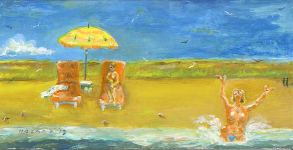 Westport Swim #1 Art Print