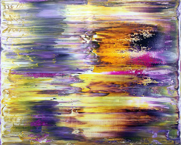 Sunset In Purple abstract painting