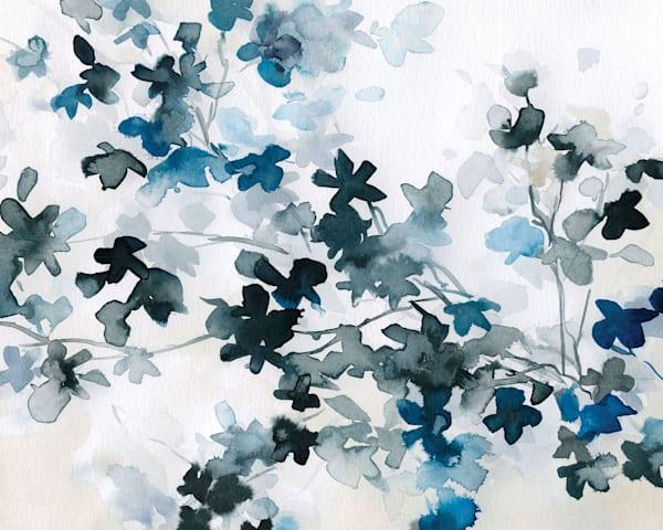 Blue Cherry Blossoms Canvas Art by Carol Robinson