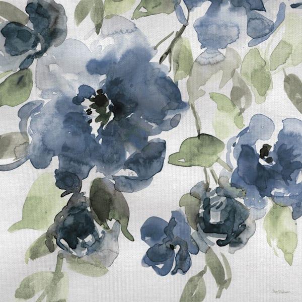 Belle's Blue I Indigo Canvas Art by Carol Robinson