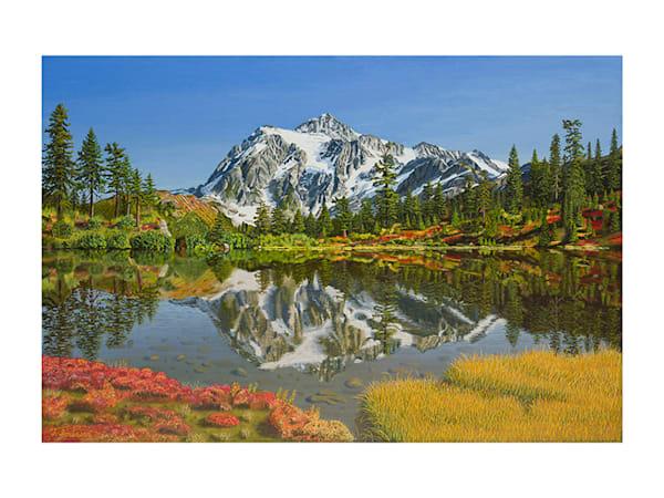 18x24 Mt. Shuskan On Paper Art | HFA print gallery