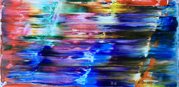 Shining Through abstract oil painting