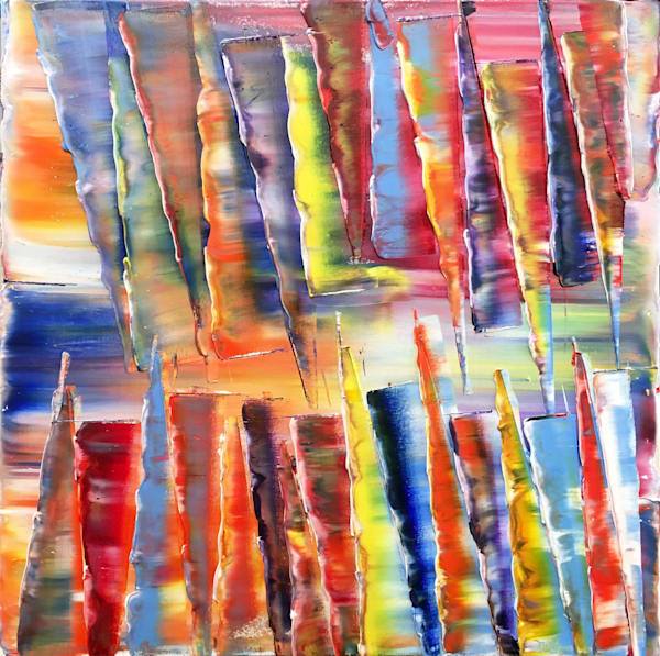 Crooked Teeth abstract PMS painting