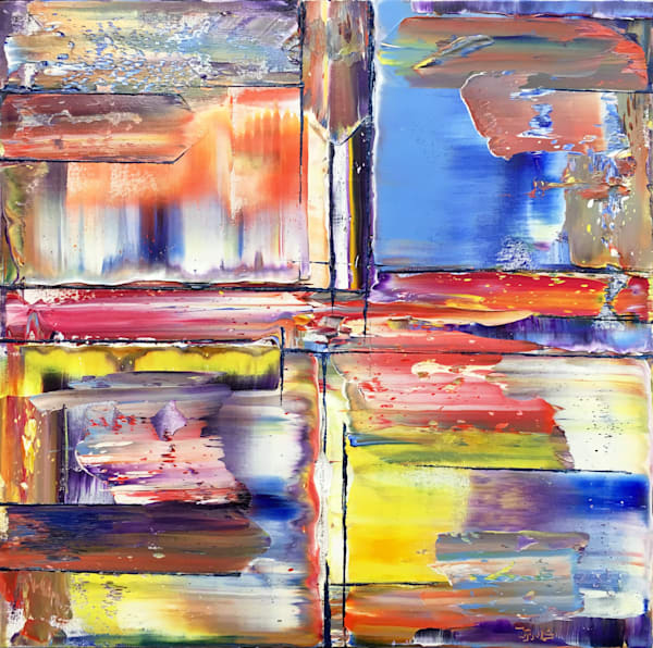 Chasing Blue Skies abstract painting