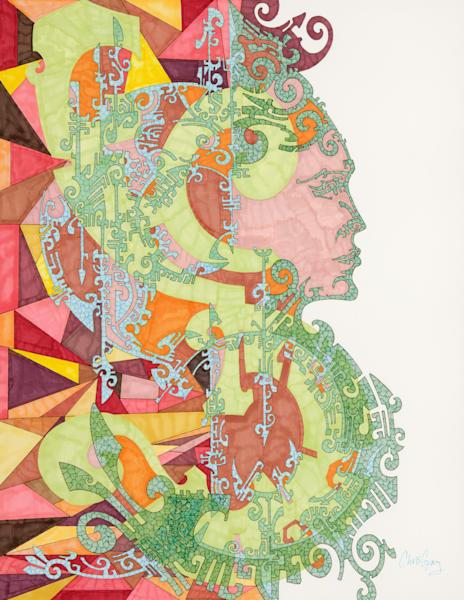 Aztec Woman Art | Chris Gray Art