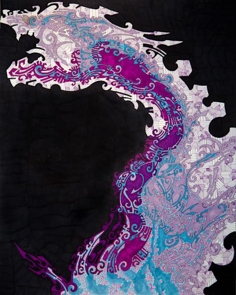 Violet Dragon  Art | Chris Gray Art