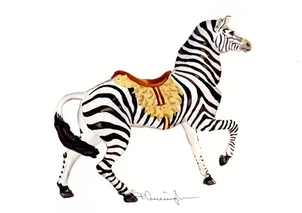 Carousel Zebra031 Art | Patty Cunningham Art
