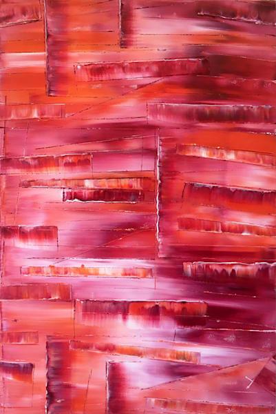 Crimson Cascade original PMS painting