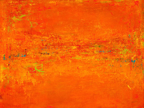 Abstracted: In The Garden Orange Art | Studio Artistica
