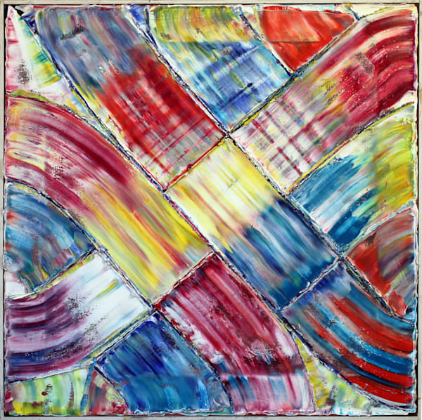 Color Junction large abstract painting