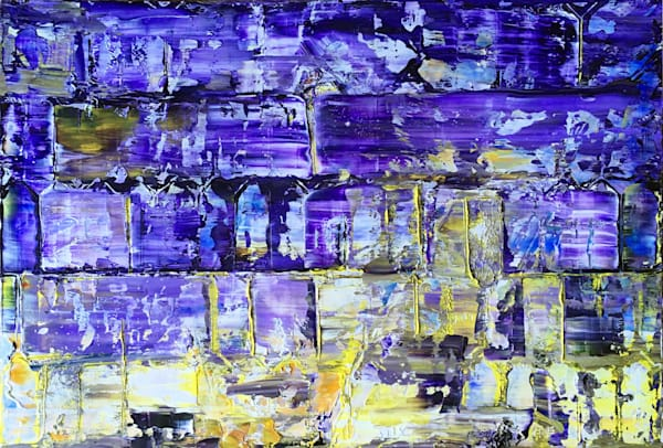 Purple Pillars abstract oil painting