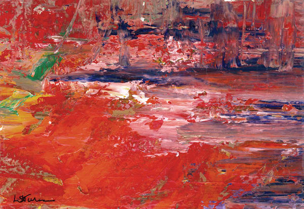 Abstracted:  Red Falls Art | Studio Artistica