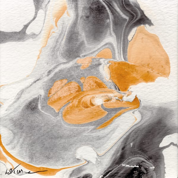 Let It Flow: Gray Orange I Art | Studio Artistica