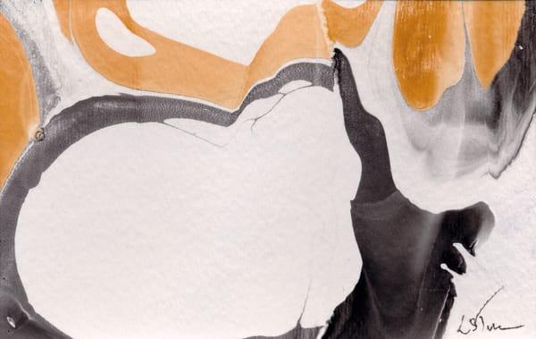 Let It Flow: Gray Orange Ii Art | Studio Artistica