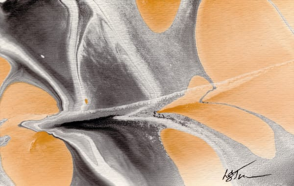 Let It Flow: Gray Orange V Art | Studio Artistica