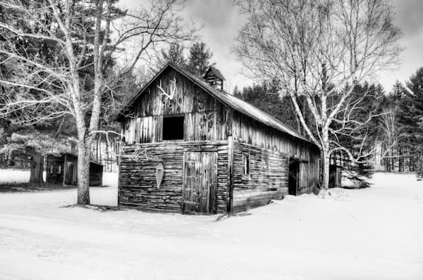 Adirondack Trapper's Barn Photography Art | Michael Sandy Photography
