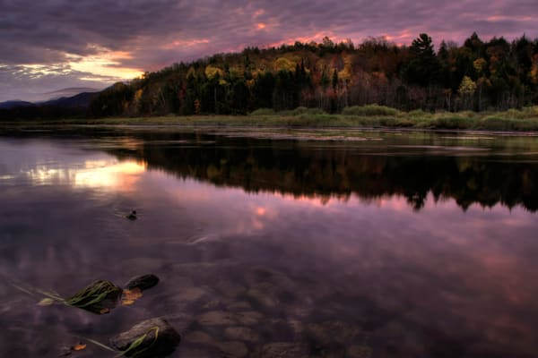 Autumn Sunrise On The Saranac Photography Art | Michael Sandy Photography