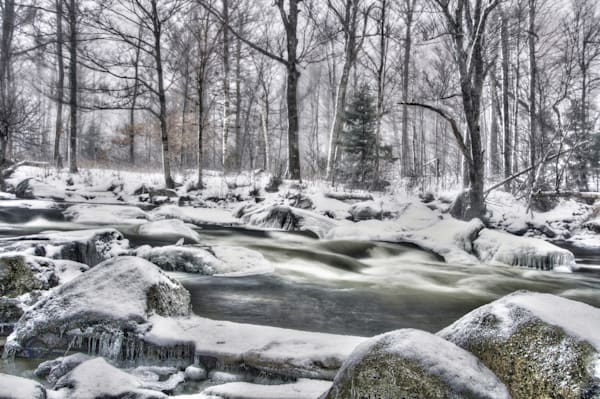 Winter On The Ausable Photography Art | Michael Sandy Photography