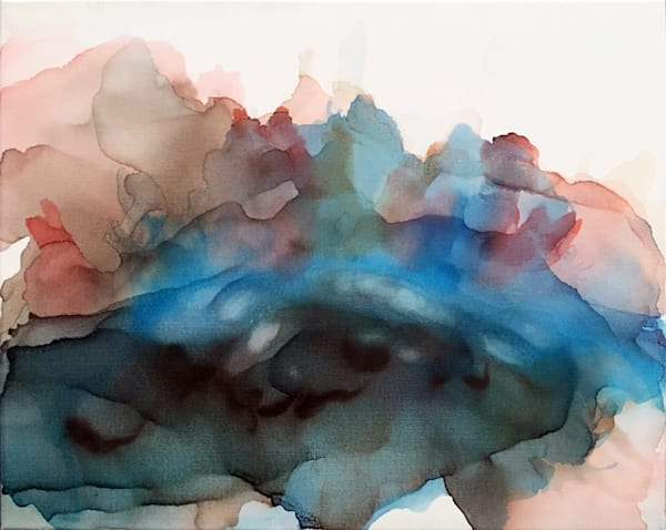 Ghost Of Trees Passed alcohol ink painting