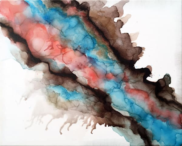Up In Smoke alcohol ink art