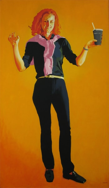 "Oil painter Marie Hines Cowan's oil on canvas painting ""Not My Mea Culpa"""