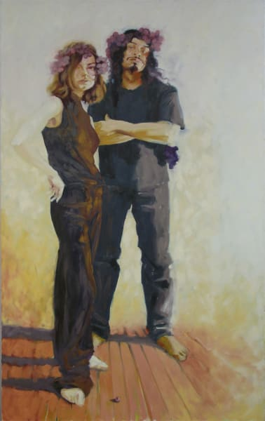 """Artist Marie Hines Cowan's oil-on-canvas painting """"The Bacchante"""""""