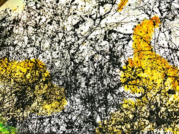 Odeta Xheka Visuals | Jackson Pollock inspired floral art prints