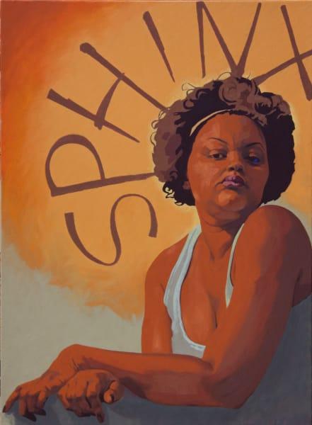 "Marie Hines Cowan's original oil-on-canvas painting ""Sphinx"""