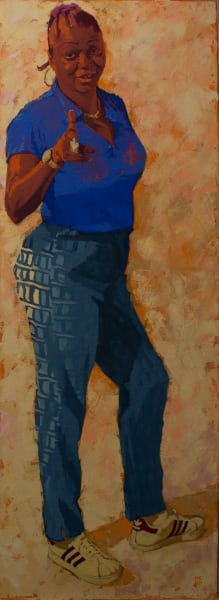 """Marie Hines Cowan's original oil-on-canvas painting """"Muse 2"""""""