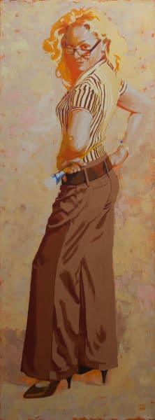 """Marie Hines Cowan's original oil-on-canvas painting """"Muse 1"""""""