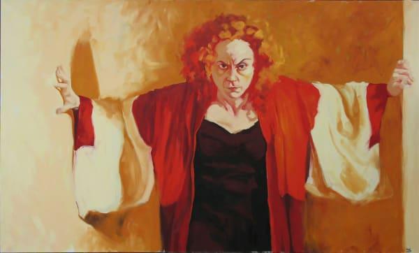 "Marie Hines Cowan's original oil-on-canvas painting ""Medea"""