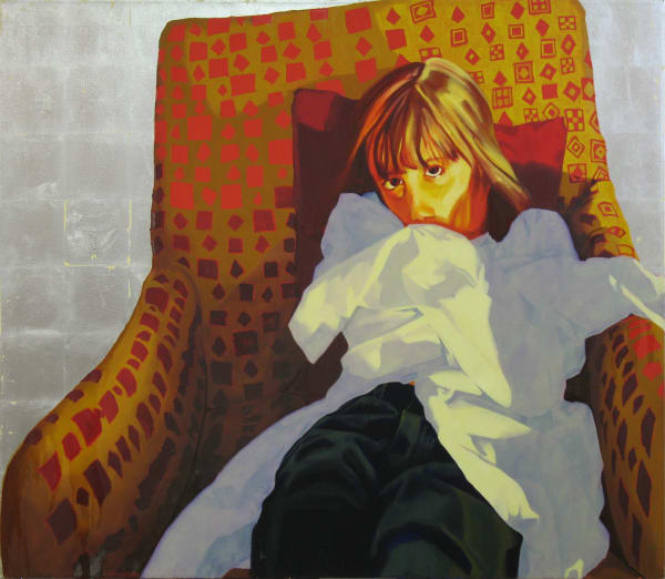 """Marie Hines Cowan original oil-on-canvas painting """"Electra"""""""