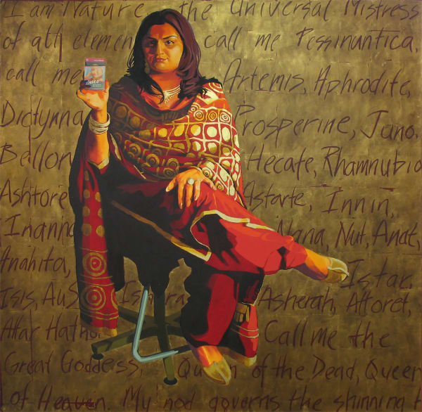 "Marie Hines Cowan original oil painting ""Aphrodite, Goddess of Love"""