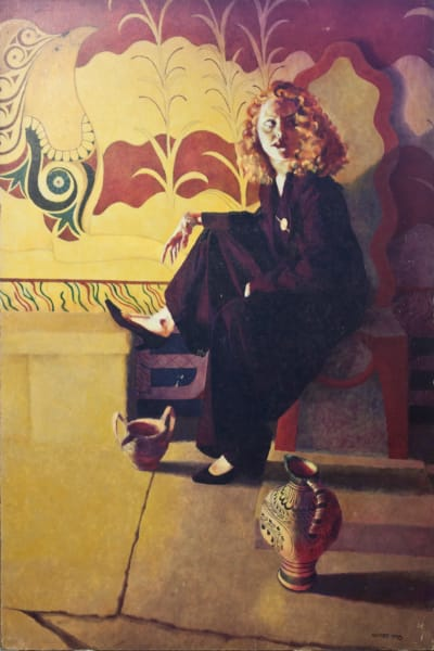 """Marie Hines Cowan original oil-on-board painting """"Waiting for the King"""""""