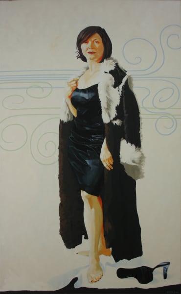 """Marie Hines Cowan original oil-on-canvas painting """"Venus in Furs"""""""