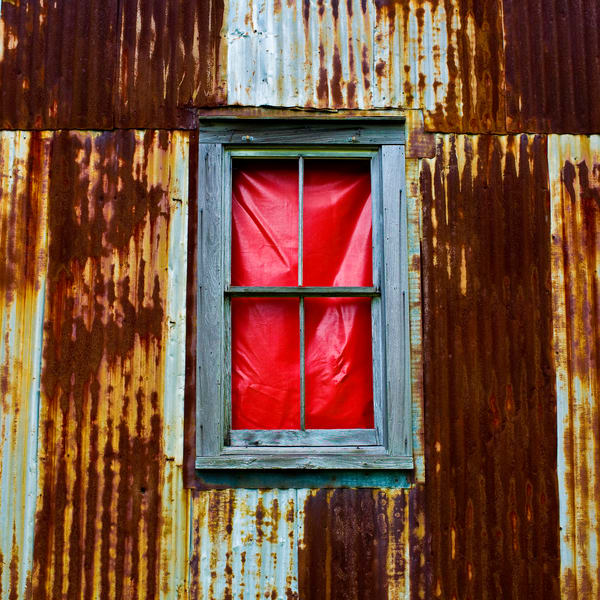 Slave Shack Red Window |  Baton Rouge | Louisiana | Color Photograph