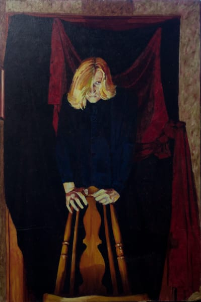 "Marie Hines Cowan figurative oil-on-canvas painting ""Lestat"""